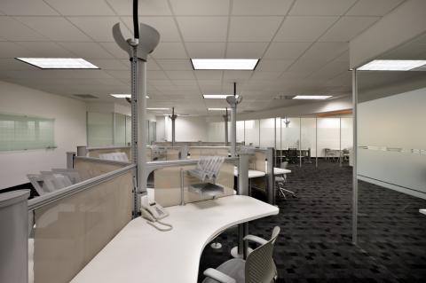 A modern modular office.